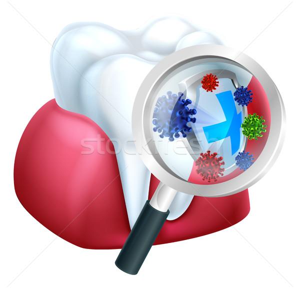 защищенный зубов камедь бактерии щит Сток-фото © Krisdog