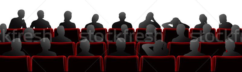 Public illustration théâtre cinéma style chaises Photo stock © Krisdog