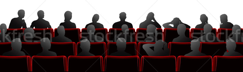 Audiencia ilustración teatro cine estilo sillas Foto stock © Krisdog