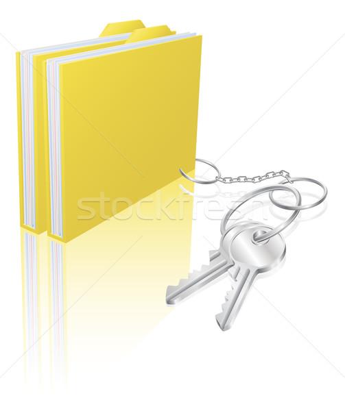 Computer file keys document security concept Stock photo © Krisdog