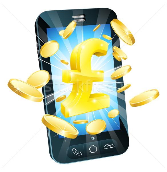 Pound para telefon örnek hareketli cep telefonu Stok fotoğraf © Krisdog