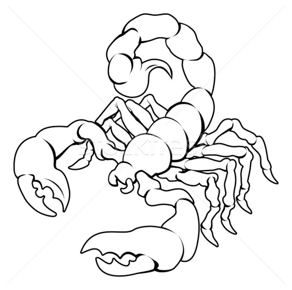 Stylised Scorpion illustration Stock photo © Krisdog
