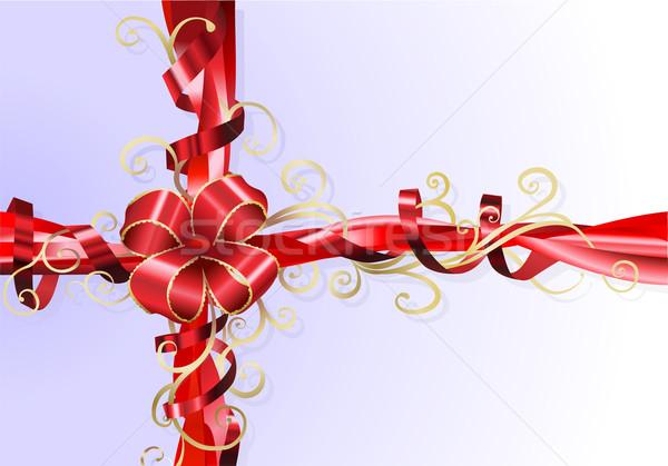 Gift ribbon and bow background Stock photo © Krisdog