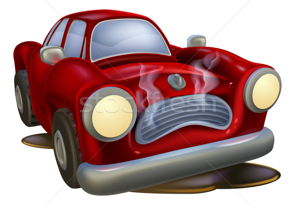 Wrecked cartoon car Stock photo © Krisdog