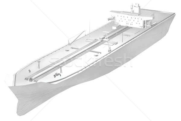 3D rendering 3d petroliera poligono griglia visibile Foto d'archivio © Krisdog