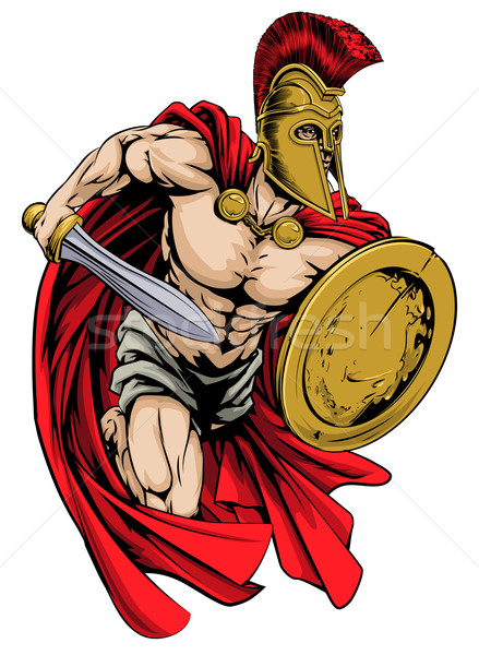 Stock photo: Spartan mascot