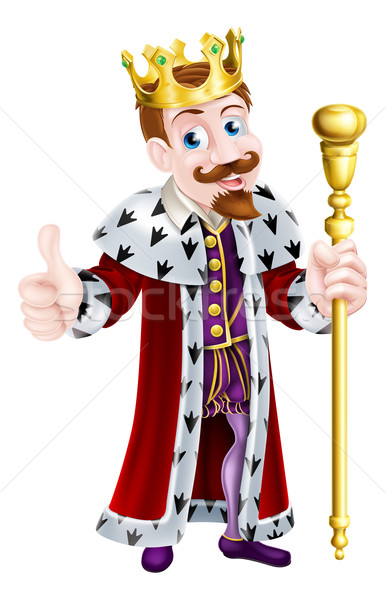 Friendly King Cartoon Stock photo © Krisdog
