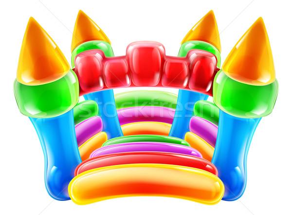 Château illustration coloré gonflable enfants fête Photo stock © Krisdog