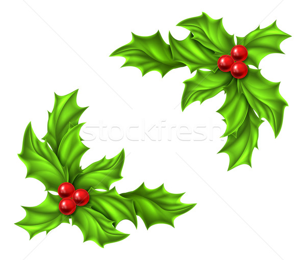 Christmas Holly Design Stock photo © Krisdog