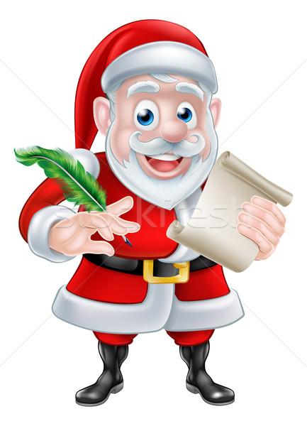 Stock fotó: Rajz · mikulás · tekercs · mikulás · karácsony · lista