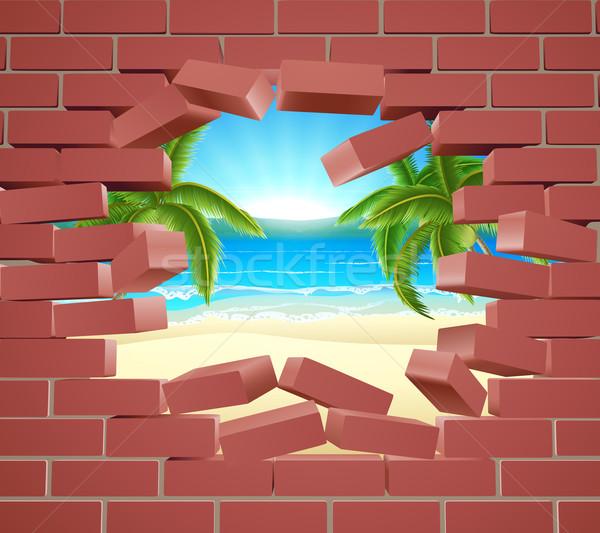 Beach Wall Concept Stock photo © Krisdog