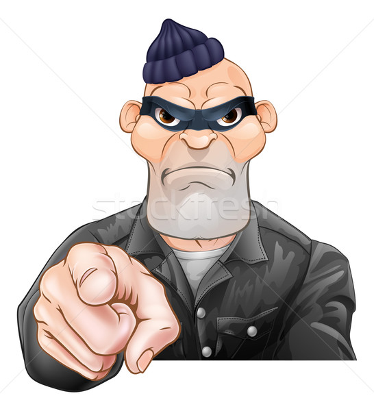 Mean Burglar Thief Pointing Stock photo © Krisdog