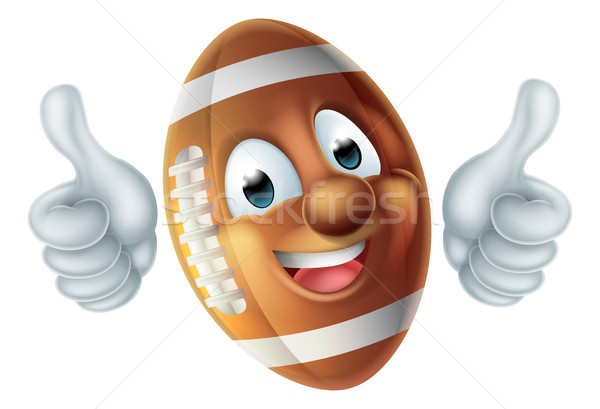 Cartoon American Football Ball Character Stock photo © Krisdog