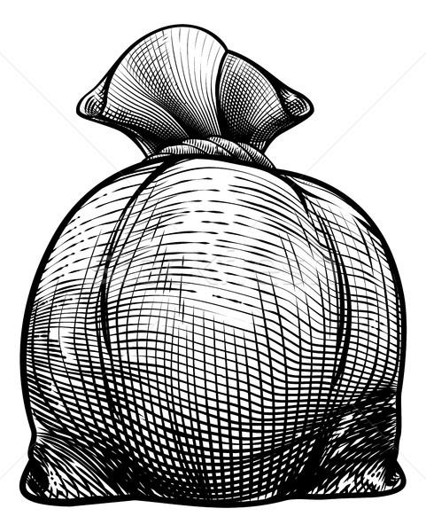 Burlap Sack or Money Bag Stock photo © Krisdog
