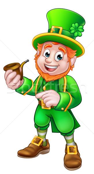 Leprechaun St Patricks Day Illustration Stock photo © Krisdog