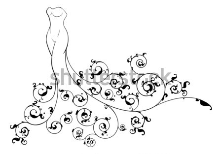 Abstract Wedding Bride Silhouette Stock photo © Krisdog