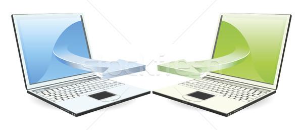 Communiquer technologie sans fil technologie web portable Photo stock © Krisdog