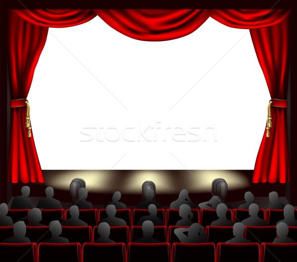 映画 観客 カーテン スペース 場所 映画 ストックフォト © Krisdog