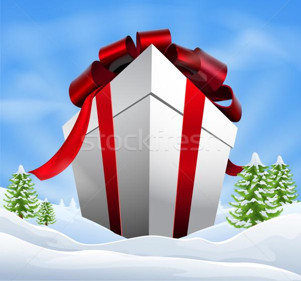 Giant Christmas Gift Stock photo © Krisdog
