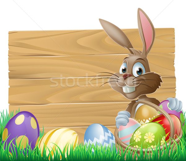 Stock photo: Easter background sign