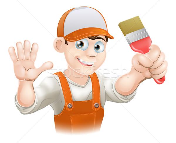 Painter or decorator man Stock photo © Krisdog