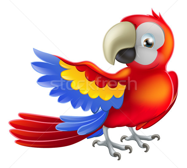 Red macaw parrot illustration Stock photo © Krisdog