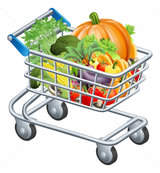 Vegetable trolley Stock photo © Krisdog