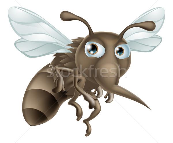 Cartoon zanzara guardando cute illustrazione pelle Foto d'archivio © Krisdog