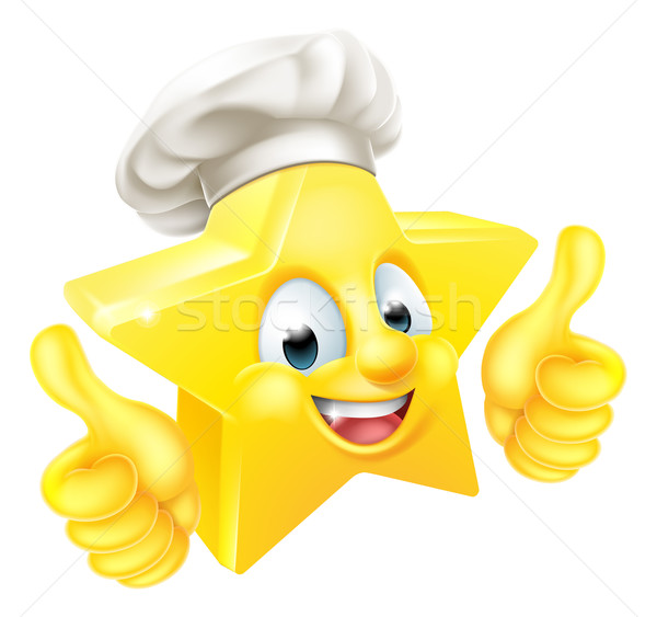 Stockfoto: Star · chef · cartoon · emoticon · mascotte