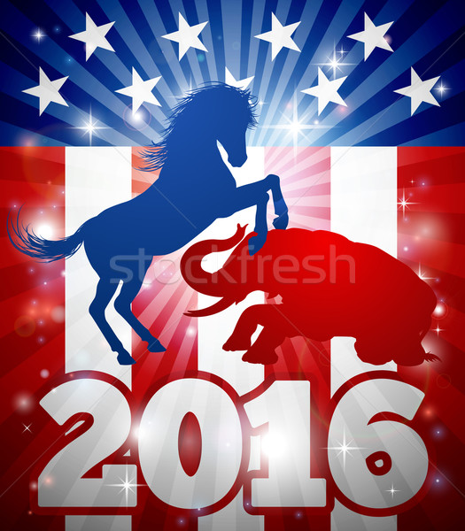 2016 american alegere mascota animale democratic Imagine de stoc © Krisdog
