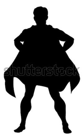 Super Hero Silhouette Stock photo © Krisdog