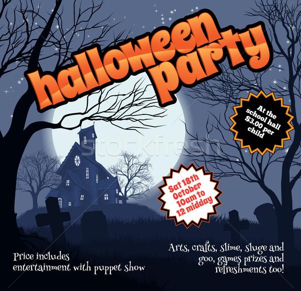 Хэллоуин вечеринка Flyer листовка Сток-фото © Krisdog