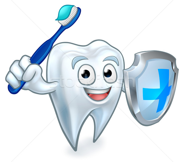 Sword and Shield Tooth Mascot Stock photo © Krisdog