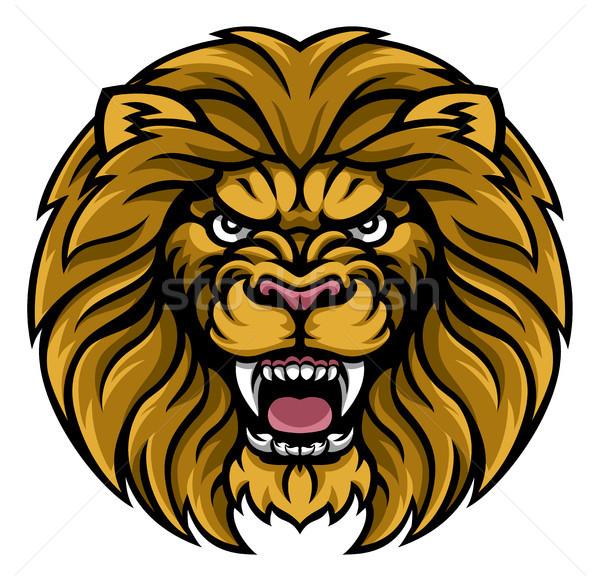 Lion Sports Mascot Stock photo © Krisdog