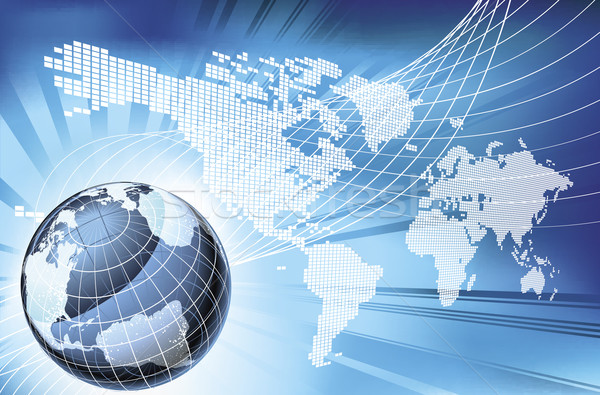 Globe Word Map of Earth Background Stock photo © Krisdog
