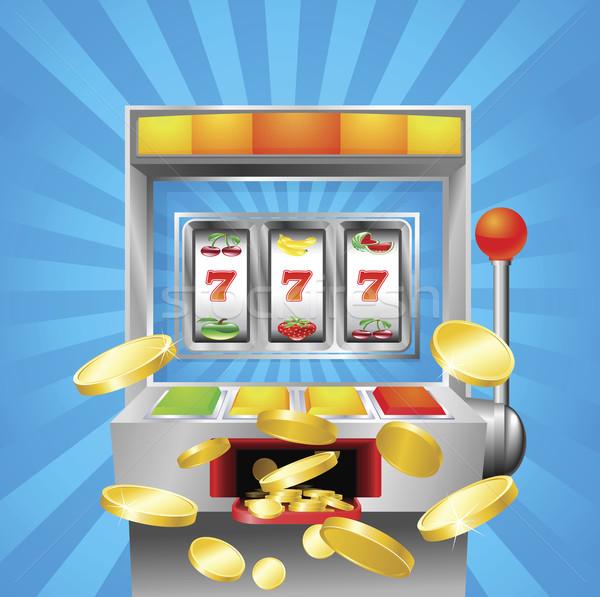 Slot fruit machine winning Stock photo © Krisdog