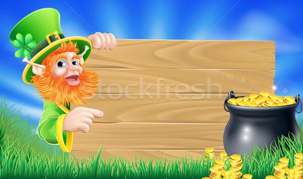 Saint Patricks day leprechaun scene Stock photo © Krisdog