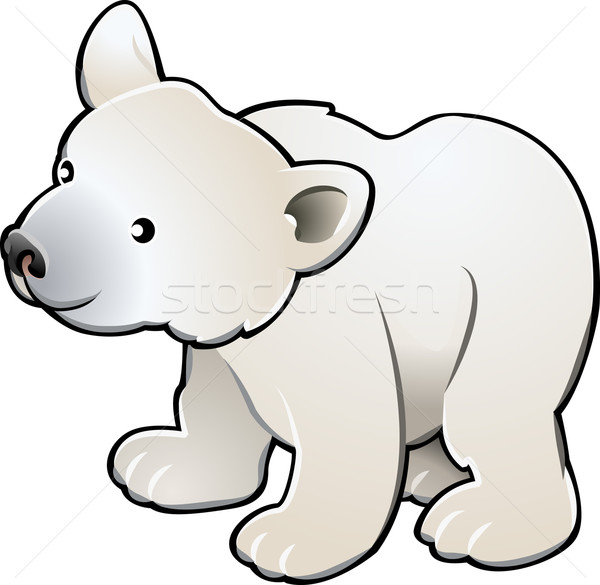 Cute Polar Bear Vector Illustration Stock photo © Krisdog