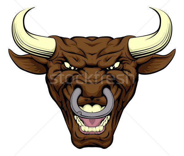 Bull character face Stock photo © Krisdog