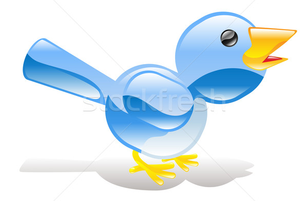 Twitter ing blue bird icon Stock photo © Krisdog