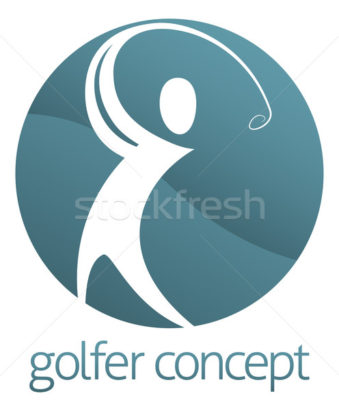 Golf Circle Abstarct Stock photo © Krisdog