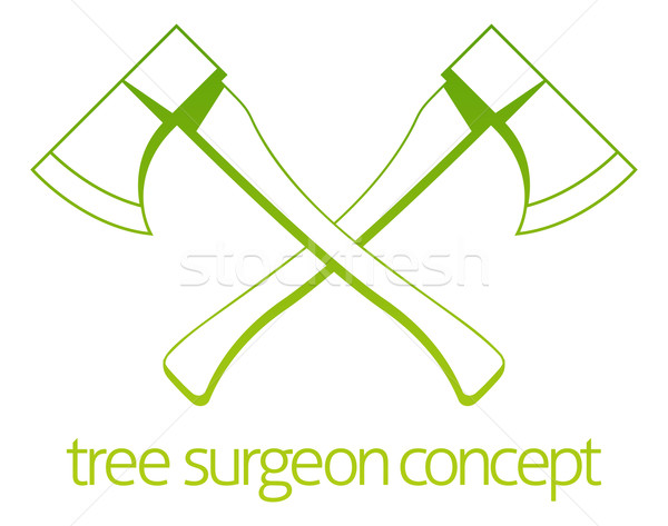 Tree Surgeon Axe Concept Stock photo © Krisdog