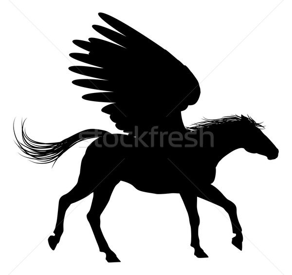 Pegasus Silhouette Stock photo © Krisdog