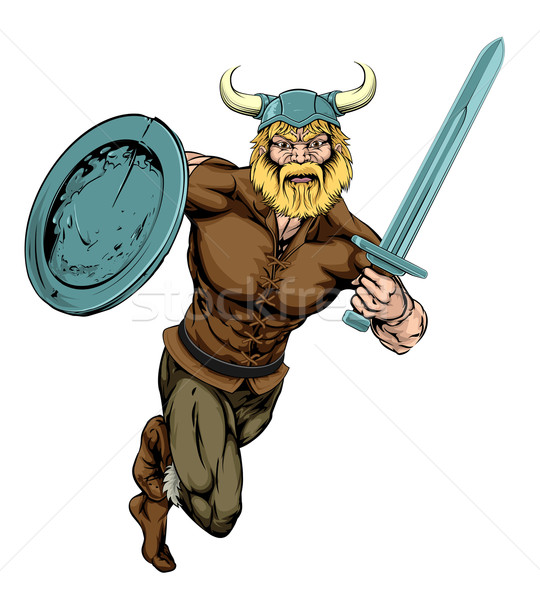 Viking Sword Warrior mascot Stock photo © Krisdog