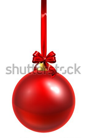 Red Christmas Bauble Stock photo © Krisdog