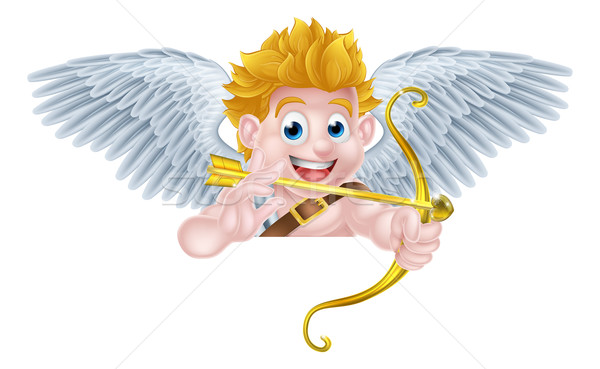 Valentines Cupid Angel Cartoon Stock photo © Krisdog