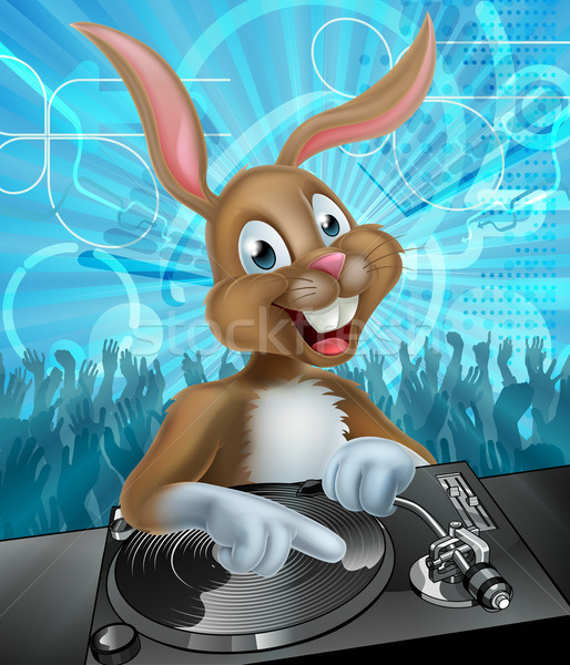 Easter Bunny DJ Party Stock photo © Krisdog