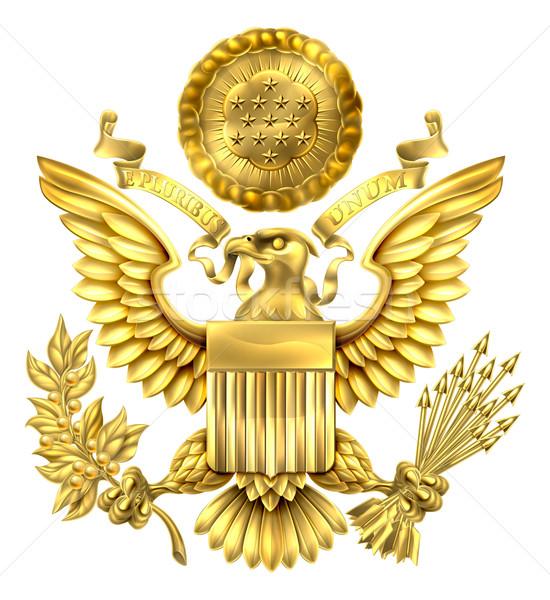 Gold Great Seal of the United States Stock photo © Krisdog