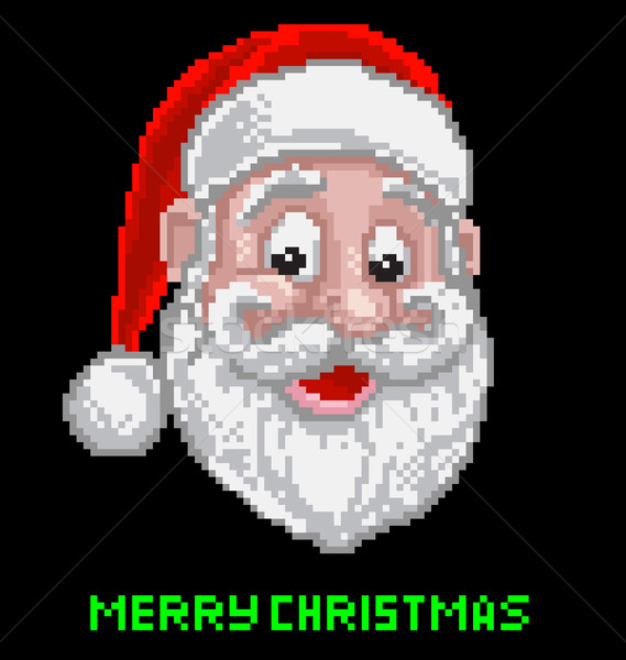 Santa Christmas Pixel Art Stock photo © Krisdog