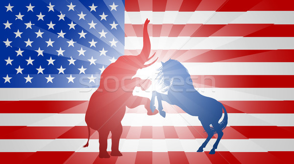 American Election Flag Concept Stock photo © Krisdog